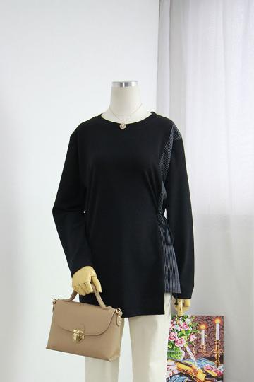 첼리샤 한쪽 셔링 티셔츠 BRS1261