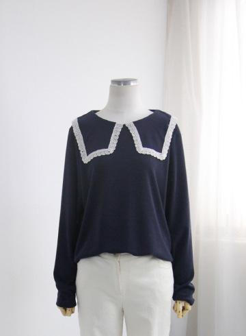 레이스 빅카라 티셔츠 BRS1347
