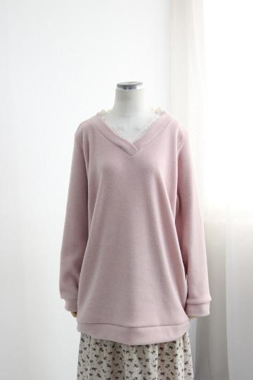 브이 레이스 겉기모 티셔츠 BSI582