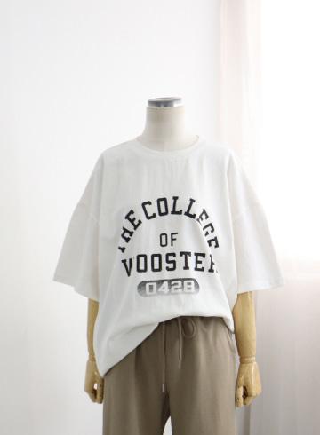 컬리지 반탈 티셔츠 DD506