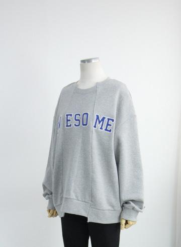 핀턱 어썸 쭈리 맨투맨 티셔츠 DD707