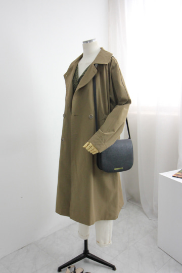 플렛 바바리 코트 DN1218