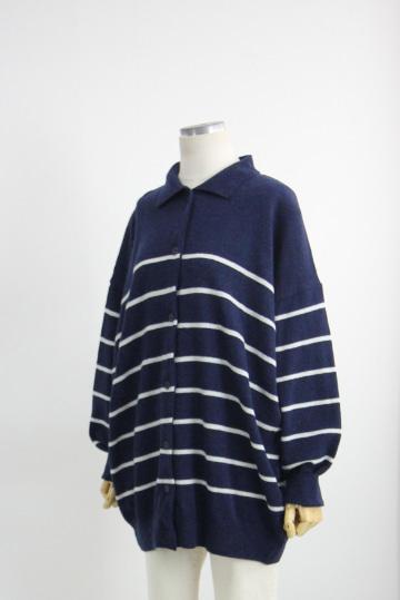 단가라 울 가디건 티셔츠 DN1219