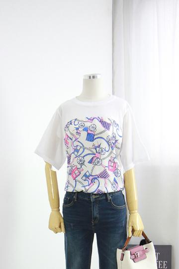마차 포인트 티셔츠 EBR1196