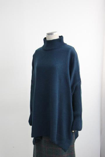 도톰 폴라 니트 티셔츠 EBR1302