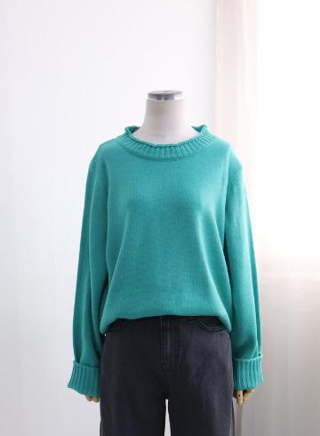 프랑 라운드넥 니트 티셔츠 EBR1322
