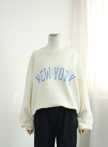 뉴욕 쭈리 맨투맨 티셔츠 EZR04