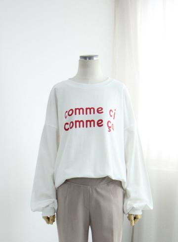 코메 쭈리 맨투맨 티셔츠 EZR11