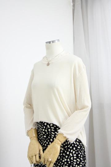 페미닌 베이직 7부 티셔츠  GOA1137