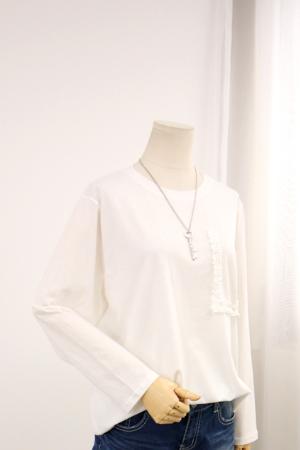 [교환반품불가] 프릴포켓 티셔츠 LV1171