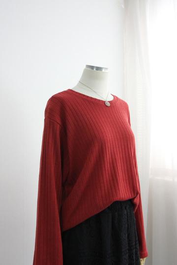 베이직 골지 니트 티셔츠 LV1436