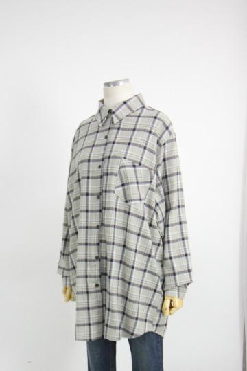 로그 체크 남방 셔츠 LV1443