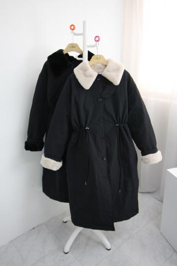 도톰 밍크 바바리 코트 LV1457