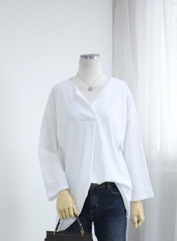 심플 앞트임 티셔츠 LV1498