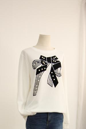 리본 홀진주 티셔츠 MN1161