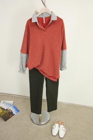 셔츠 배색티셔츠 MN1165