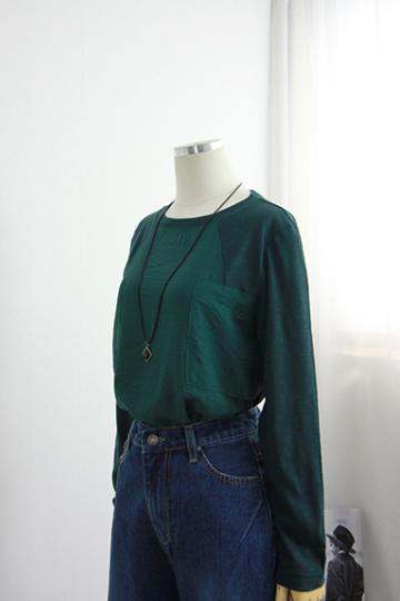 [교환반품불가]칸나 데일리 배색 티셔츠 MN1214