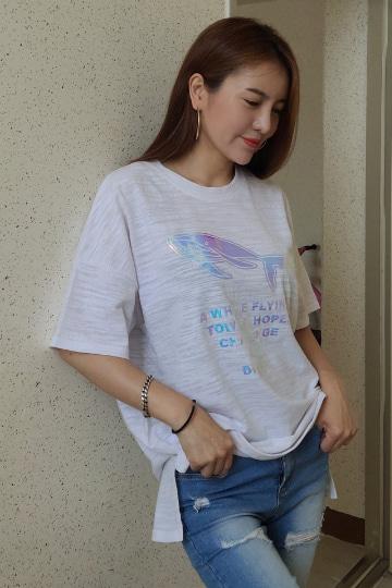 돌핀 라운드넥 반팔 티셔츠 MN1268