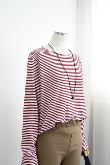 시니어 단가라 슬라브 티셔츠 MN1286