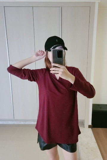 기본 슬라브 긴팔 티셔츠 MN1289