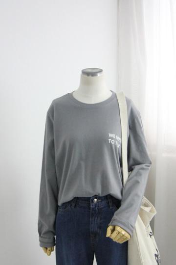 니드 라운드넥 티셔츠 MSM1936