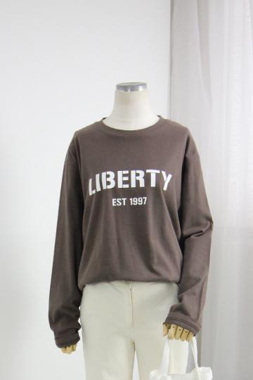 리버티 레터링 티셔츠 MSM1959