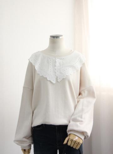 레이스 쭈리 맨투맨 티셔츠 NTN1173