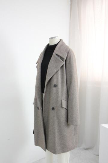 [교환반품불가] 어반 모직 더블단추 코트 OKI615