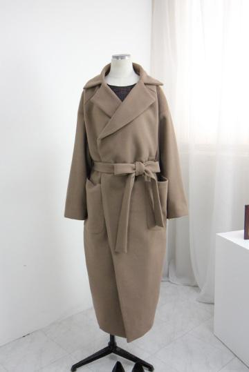 [교환반품불가] 어반 울 끈 코트 OKI621