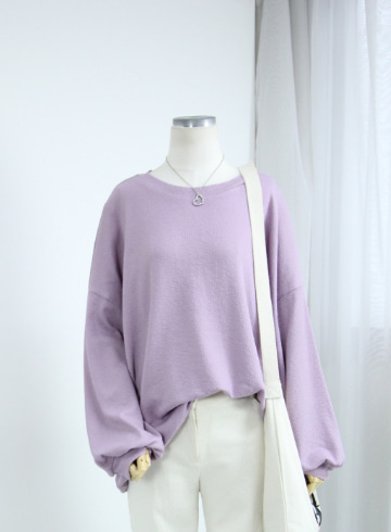 말리 퍼프소매 티셔츠 OKI660