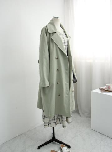 플레인 바바리 코트 OKI725