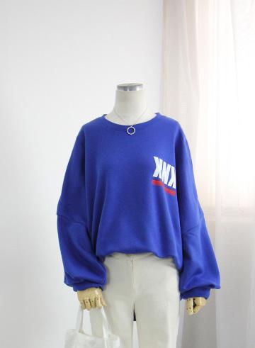 [교환반품불가] KNK 박스맨투맨 기모 티셔츠 OPA01