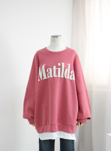 마틸다 기모 티셔츠 OPA02