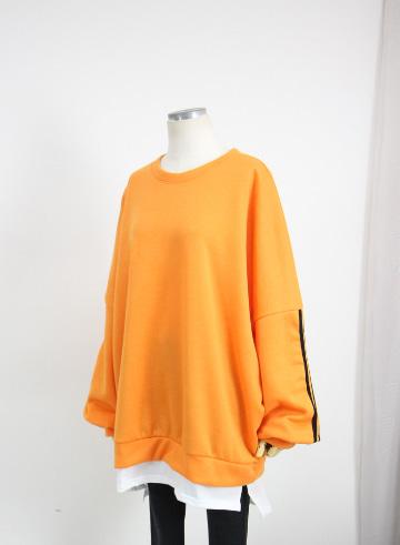 [교환반품불가] 베이직 레이어드 맨투맨 기모 티셔츠 OPA04