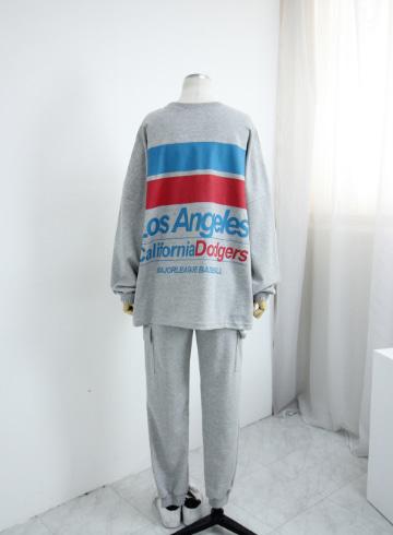 조이스 티셔츠+밴딩 추리닝바지 세트 PS132