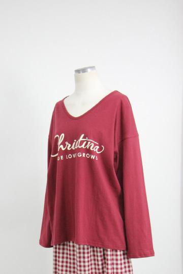 러브 브이넥 티셔츠 PS67