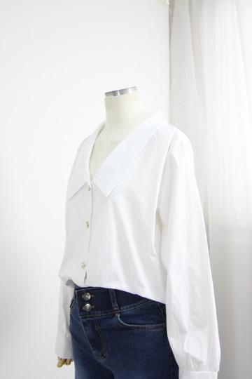 조엔 진주단추 셔츠 QZ1029