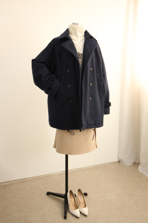 누빔 버클소매 코트 STM1255