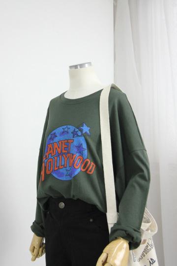 [교환반품불가] 플래닛 프린팅 티셔츠  STM1517