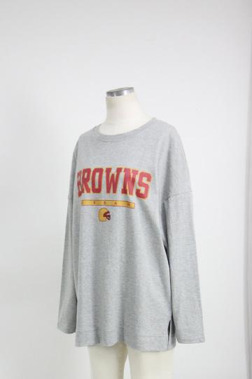 브라운 라운드넥 티셔츠 STM1529