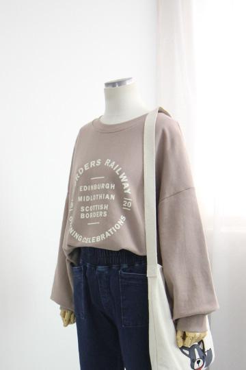 서클 쭈리 맨투맨 티셔츠 STM1543