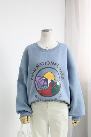파크 기모 맨투맨 티셔츠 STM1566