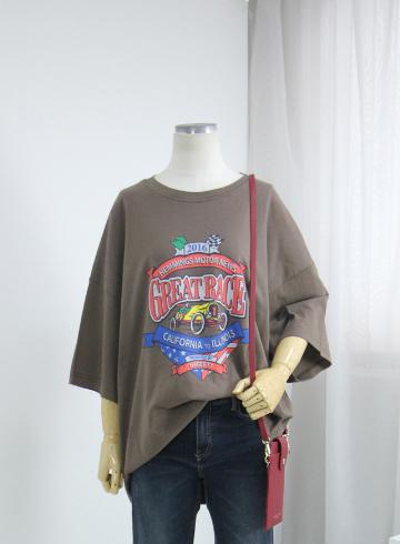 레이스 루즈핏 반팔 티셔츠 STM1609