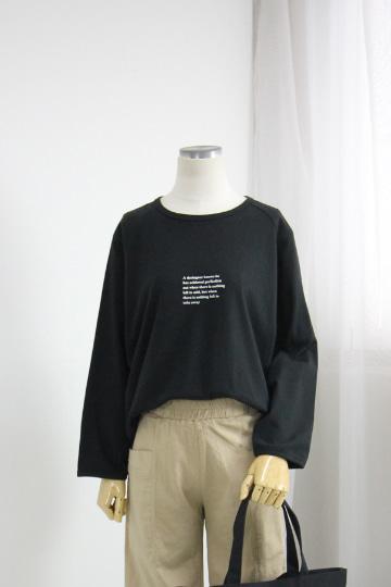 에드 레터링 티셔츠 TOP118