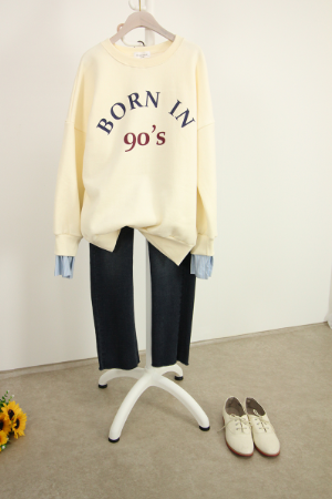 기모 셔츠소매 나염 맨투맨 TTG1065