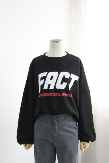 팩트 프린팅 맨투맨 티셔츠 TTG1137