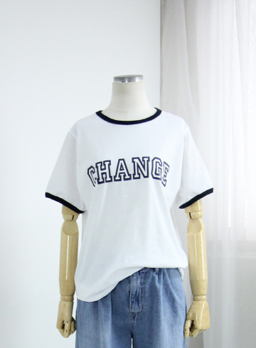 체인지레터링 반팔 티셔츠 DD720