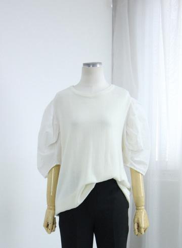 메리 벌룬소매 반팔 티셔츠 EBR1348