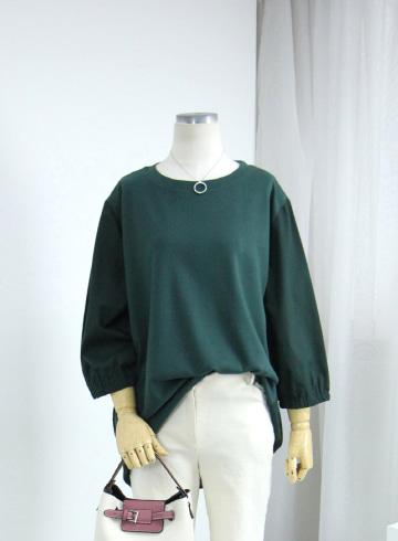 캐슬 배색 라운드넥 티셔츠 MN1329