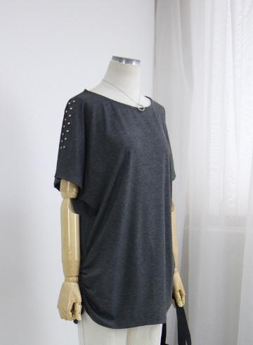 버블 어깨트임 반팔 티셔츠 MN1334
